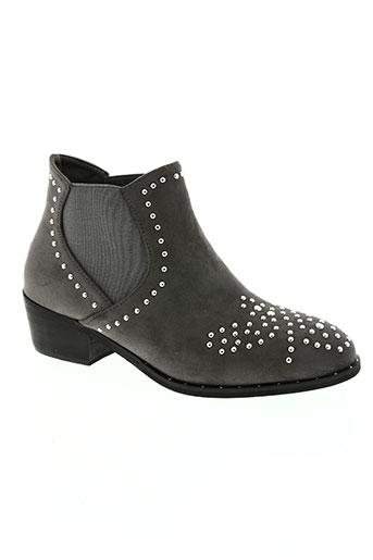 Bottines/Boots gris BELLUCCI pour femme