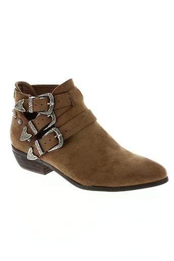 Bottines/Boots marron HEMJI pour femme