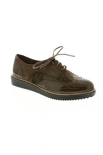 hemji chaussures femme de couleur marron