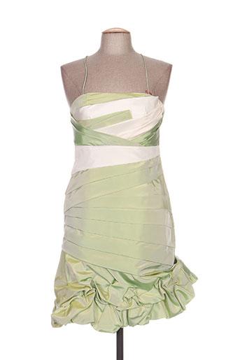 creatif paris robes femme de couleur vert