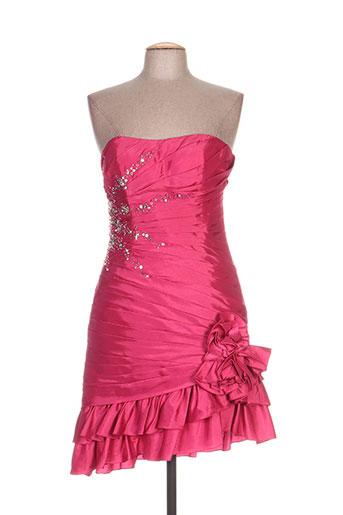 Robe courte rose ELLEBELINE pour femme