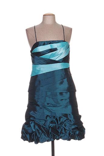 Robe mi-longue bleu CREATIF PARIS pour femme
