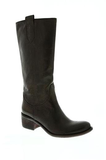 metal jean's chaussures femme de couleur marron