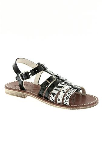 achile chaussures fille de couleur noir