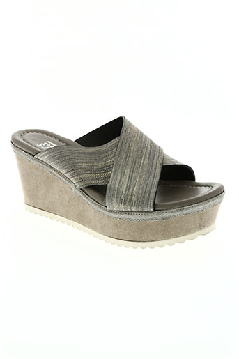 plumers chaussures femme de couleur gris