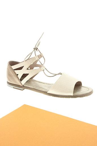 regarde le ciel chaussures femme de couleur beige