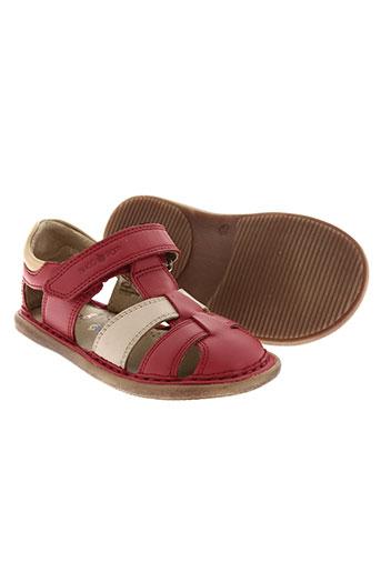shoo pom chaussures garçon de couleur rouge