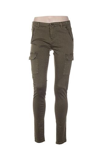 only pantalons femme de couleur vert