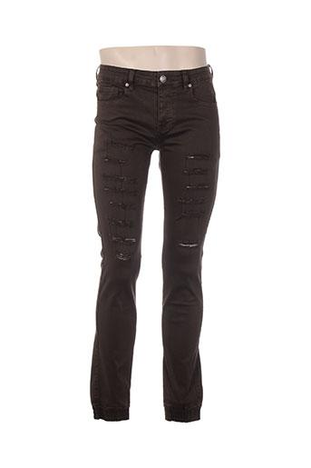 sixth june jeans homme de couleur marron