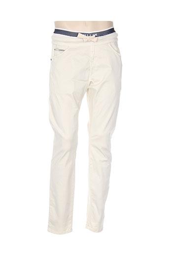 pull in pantalons homme de couleur blanc