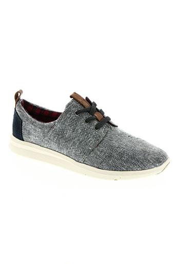 toms chaussures femme de couleur bleu