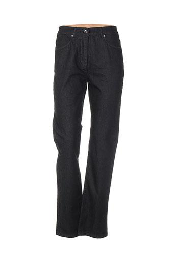 brandtex pantalons femme de couleur noir