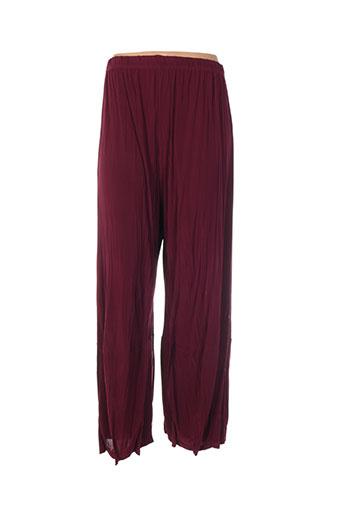 martine sam... pantalons femme de couleur rouge