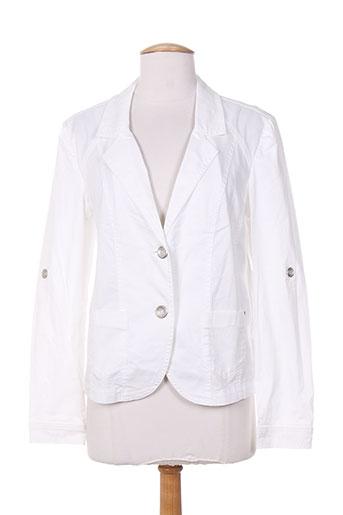 Veste casual blanc BRANDTEX pour femme