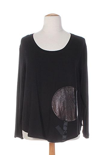 alembika t-shirts femme de couleur noir