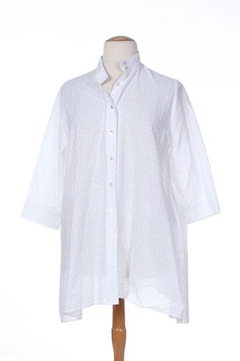 gaia boldetti chemises femme de couleur blanc