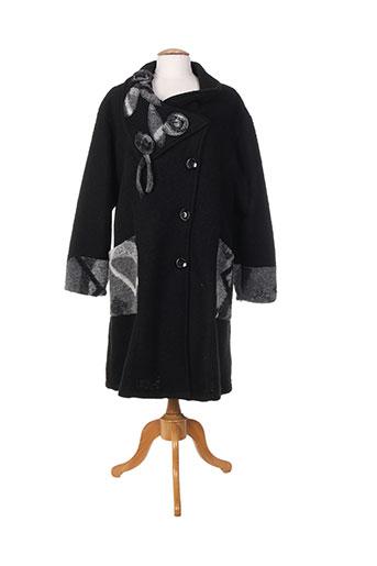 one o one manteaux femme de couleur noir