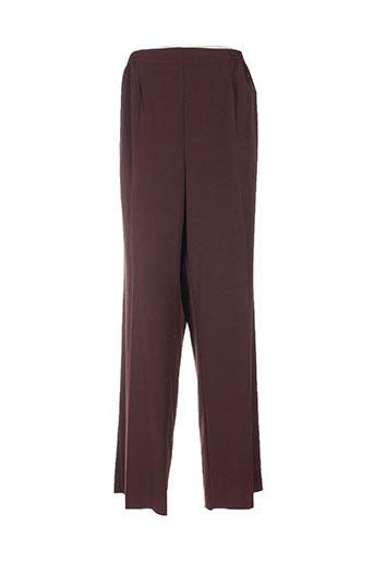sodrap pantalons femme de couleur marron
