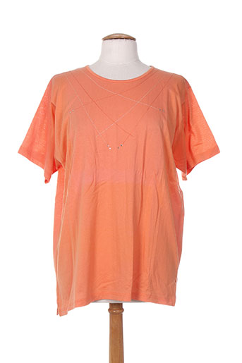 bleu de chine t-shirts femme de couleur orange
