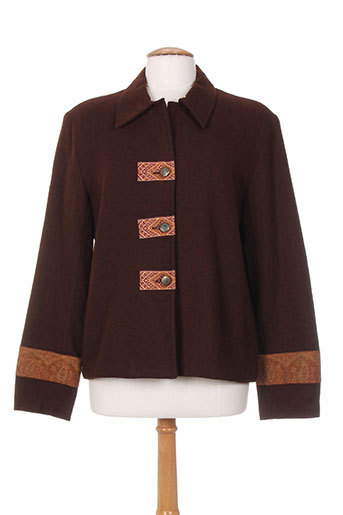 ishwar vestes femme de couleur marron