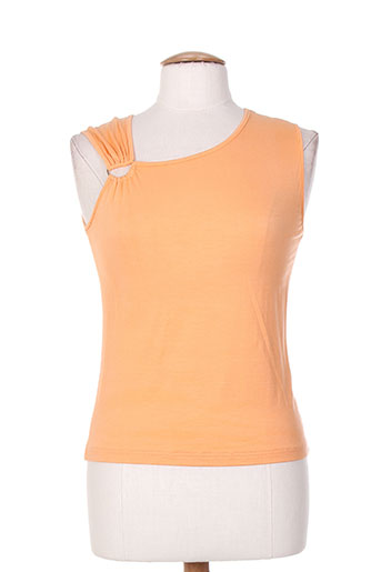 finette t-shirts femme de couleur orange