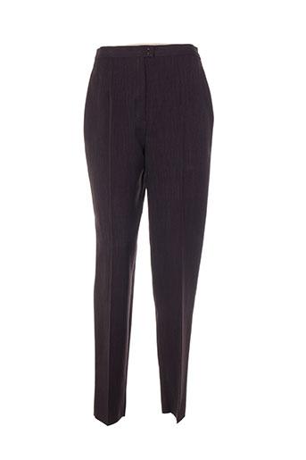 bleu de chine pantalons femme de couleur marron