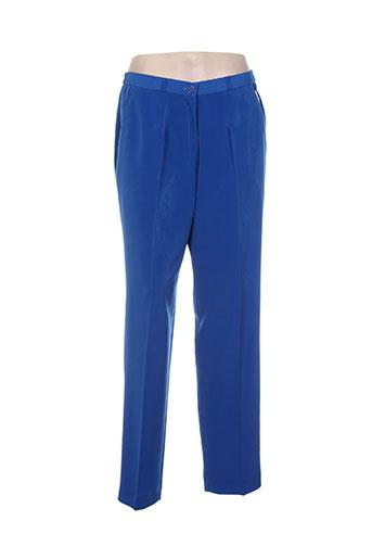 jean biolay pantalons femme de couleur bleu