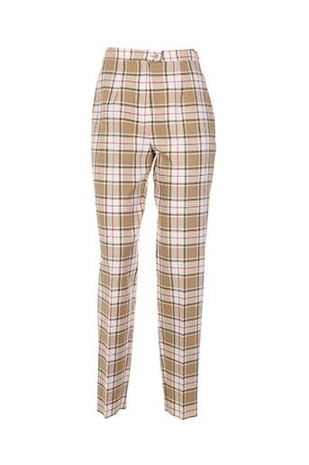 bleu de chine pantalons femme de couleur beige