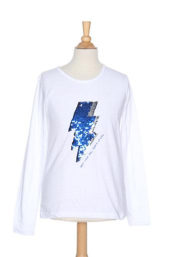 3 pommes t-shirts fille de couleur blanc