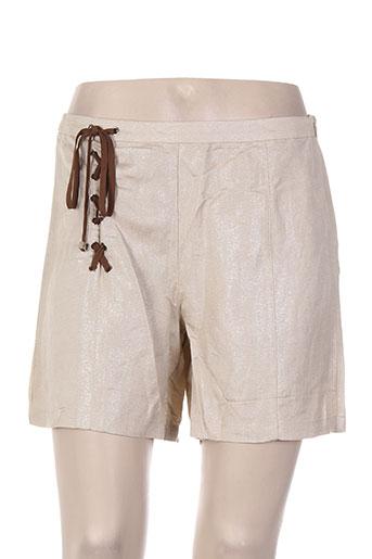 my collection shorts / bermudas femme de couleur beige