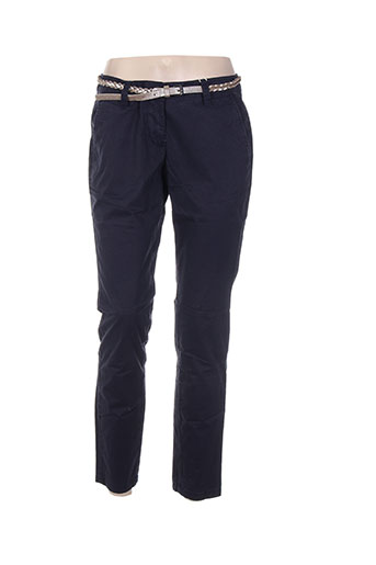 tom tailor pantalons femme de couleur bleu