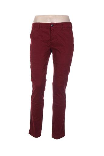 Pantalon casual rouge CLOSETTE pour femme