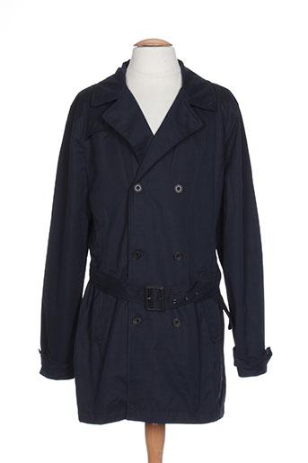 blend manteaux homme de couleur bleu
