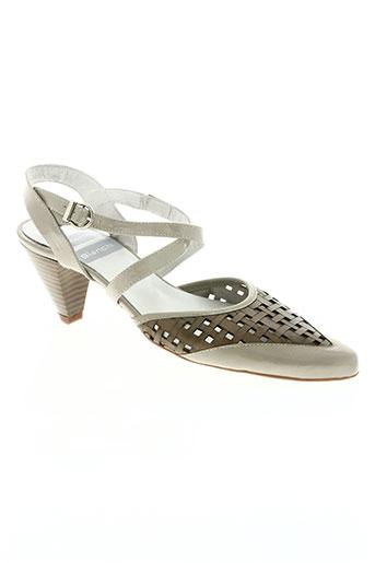 pietro bianchi chaussures femme de couleur beige