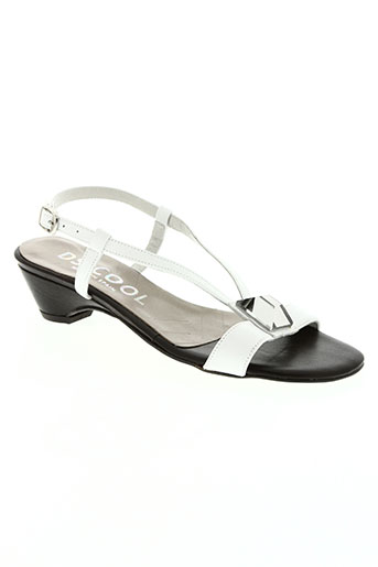 ds cool chaussures femme de couleur blanc