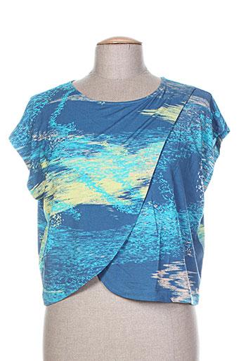 chacok chemises femme de couleur bleu