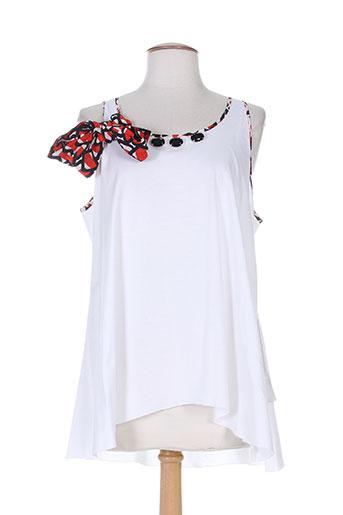 tricot chic tuniques femme de couleur blanc