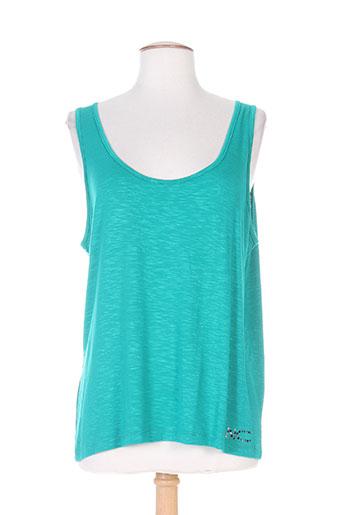 nathalie chaize t-shirts femme de couleur vert