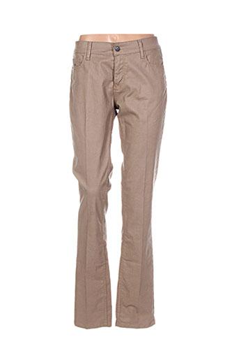 shams pantalons femme de couleur beige