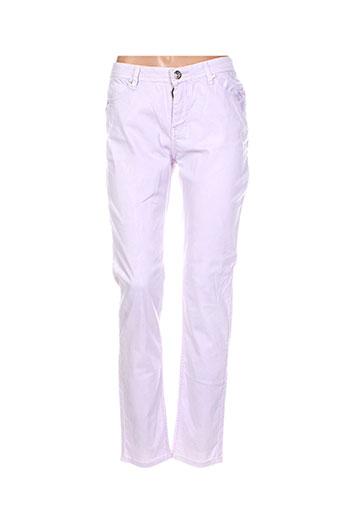 leslie pantalons femme de couleur violet
