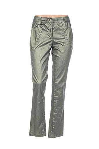 nathalie chaize pantalons femme de couleur vert