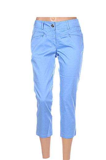 nathalie chaize pantacourts femme de couleur bleu