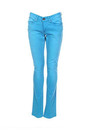 not the same jeans femme de couleur bleu