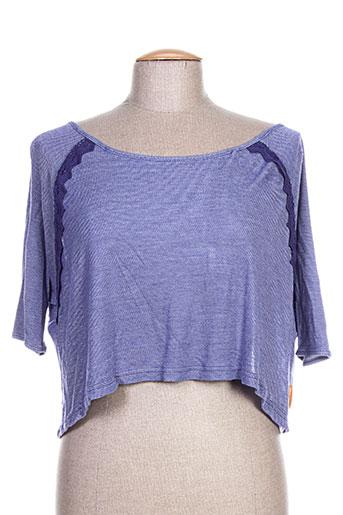 mamatayoe chemises femme de couleur bleu