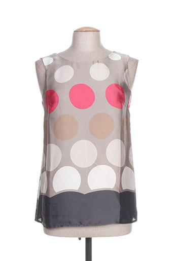 poussiere d'etole chemises femme de couleur gris