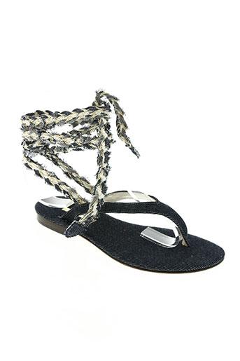 emanuela caruso chaussures femme de couleur bleu
