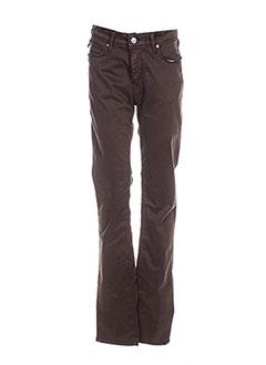 Pantalon casual marron CHEFDEVILLE pour femme