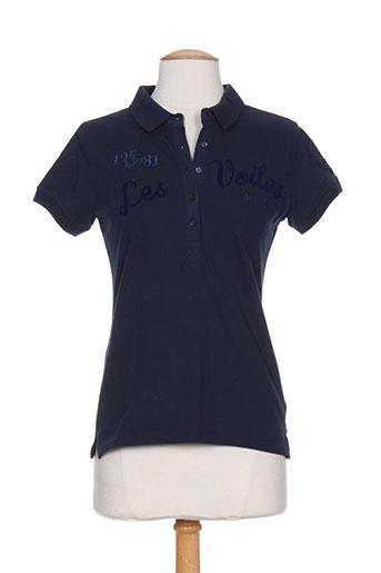 les voiles de saint-tropez t-shirts femme de couleur bleu