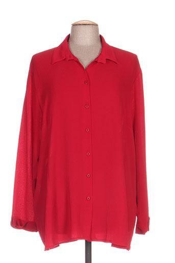 kakie chemises femme de couleur rouge