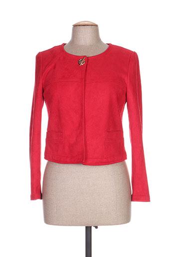 jus d'orange vestes femme de couleur rouge